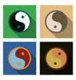 set of ying yang symbol of harmony and balance vector image