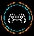 simple game controller thin line icon vector image vector image