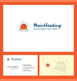 siren logo design with tagline front and back vector image