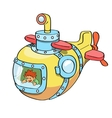 Submarine cartoon colored vector image