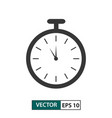 timer icon isolated on white eps 10 vector image