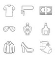 trading firm icons set outline style vector image