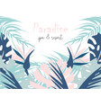 tropical jungle summer different vector image