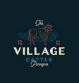 village cattle purveyors abstract sign vector image vector image