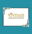 vintage background frame with precious stones vector image