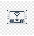 voice control concept linear icon isolated on vector image