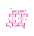 wall icon design vector image vector image