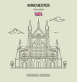 winchester cathedral vector image vector image