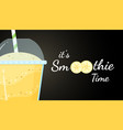 yellow smoothie fruit logo cocktail vector image vector image