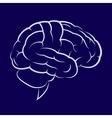 Symbol of the human brain vector image