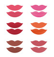 shades of lipstick on white background vector image