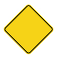 yellow sign blank vector image