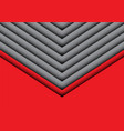 abstract gray arrow on red design modern vector image vector image