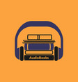 audiobooks logo vector image