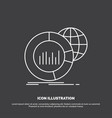 big chart data world infographic icon line symbol vector image