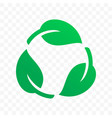 biodegradable recyclable plastic free label icon vector image vector image