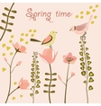 Birds at spring time vector image vector image