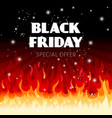 black friday fire sale background vector image vector image