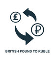 british pound to ruble icon mobile app printing vector image vector image