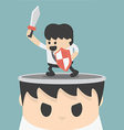 Businessman concept idea of fighting vector image vector image