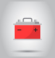 car battery flat icon on gray background auto vector image vector image