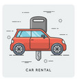 Car rental thin line concept