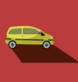 car with a long shadow vector image vector image