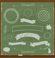 chalkboard banners and design elements vector image vector image