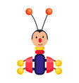 child xylophone in form of beetle vector image