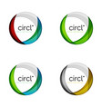 circle logo collection transparent overlapping vector image