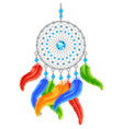 Colorful Dream Catcher vector image