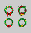 comical drawing christmas wreath vector image vector image