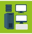computer equipment supply icons graphic vector image vector image