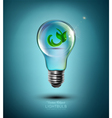 concept light bulb with the germ inside vector image vector image