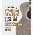 concert of classical live music vector image vector image