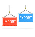 container cargo port export import shipping vector image vector image