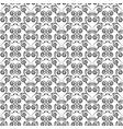 curls monochrome seamless vector image