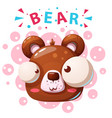 cute bear characters - cartoon vector image