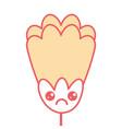 cute flower kawaii cartoon decoration vector image