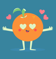 Cute Orange Crazy in Love vector image vector image