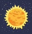 cute sun star solar system vector image