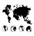 doodle world globe map icon design vector image vector image