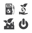 earth and ecology icons set elements of this vector image vector image