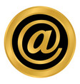 email button on white vector image vector image