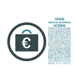Euro Bookkeeping Case Rounded Icon with 1000 Bonus vector image vector image