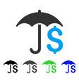 financial umbrella flat icon vector image