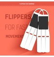 flippers for fast movement under water vector image
