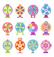 fortune wheel machines for gamblers to play gaming vector image vector image