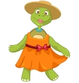 Funny Turtle Wife Dancing vector image