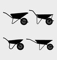 garden wheelbarrow vector image
